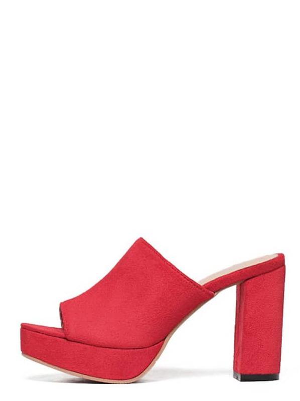 alto tacco toe Sandali open rosso con hrdtsQ
