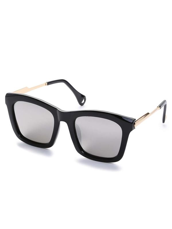 a671011a4e Gafas de sol lentes platas retro reflexivo cuadradas -Spanish SheIn( Sheinside)