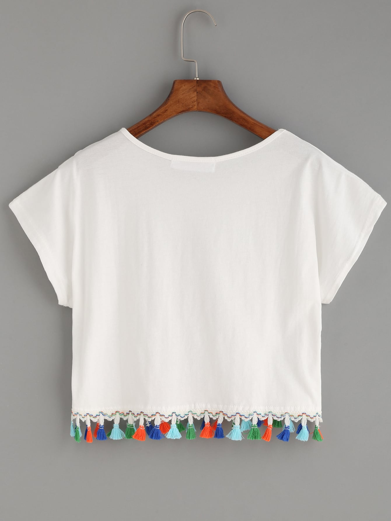 1e375e582546 Cheap White Letters Pineapple Print Fringe T-shirt for sale ...