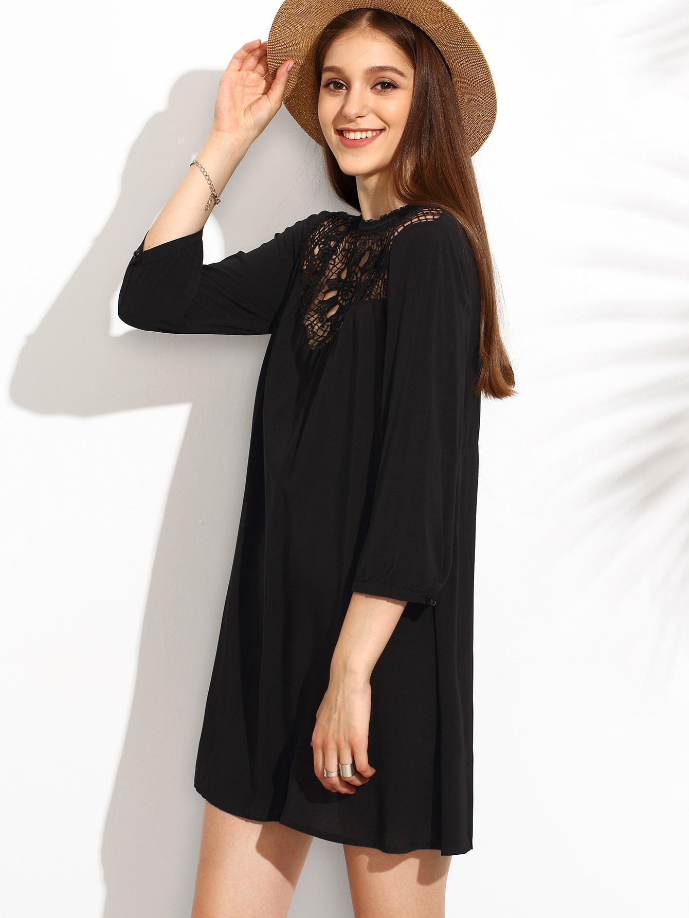 Черное платье туника
