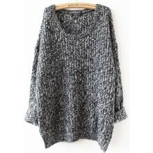 SHEIN | Grey Long Sleeve Loose Sweater | Goxip