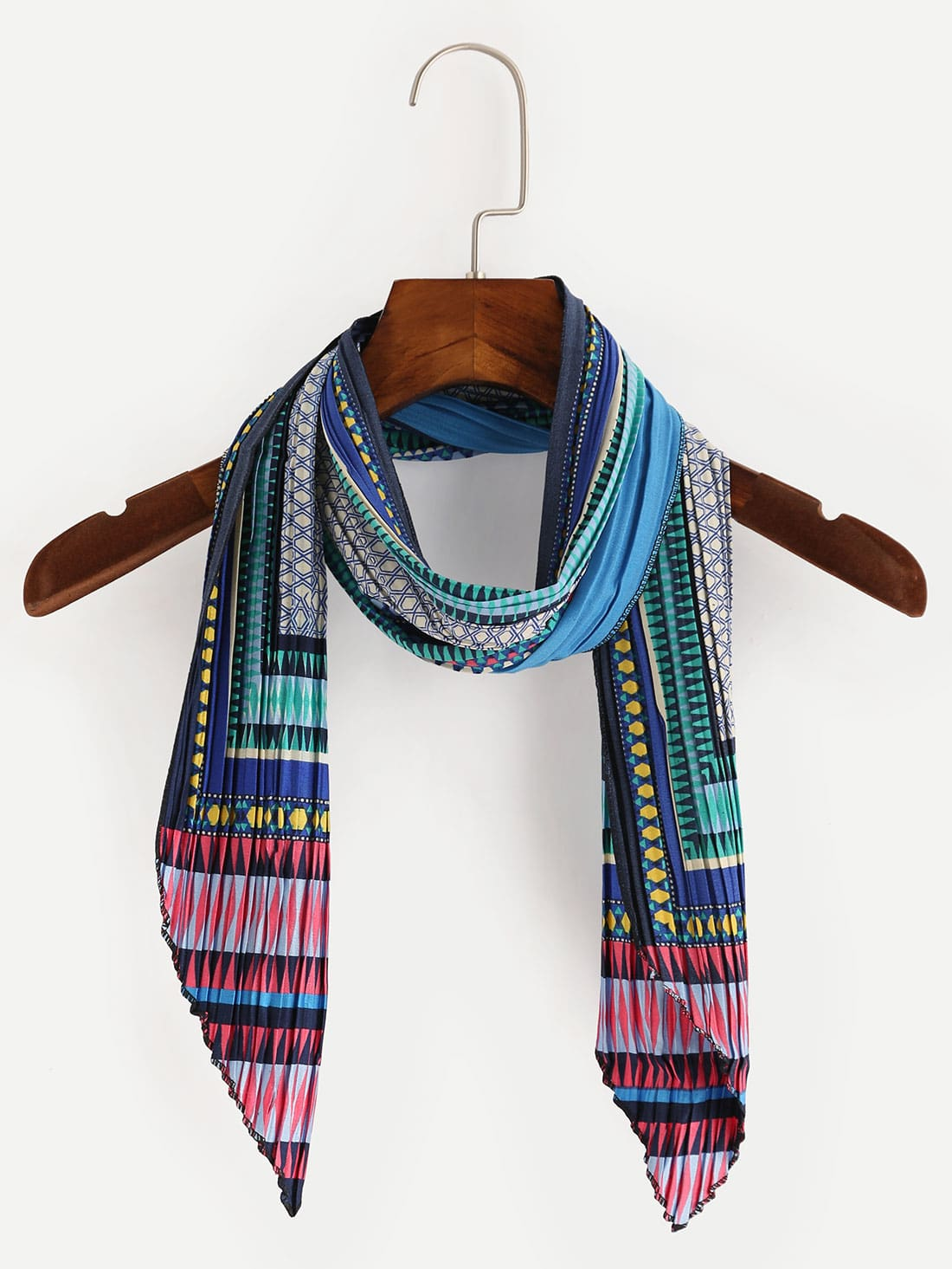 multicolor folding print satin scarf shein sheinside