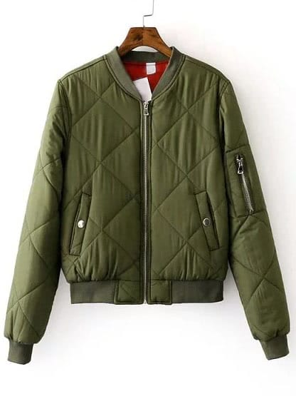 Look For Less Zara Quilted Bomber Jacket Fashion