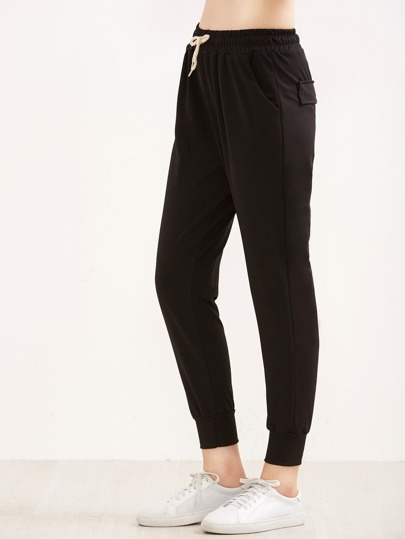 311a6223ee8 Drawstring Waist Ribbed Cuff Joggers