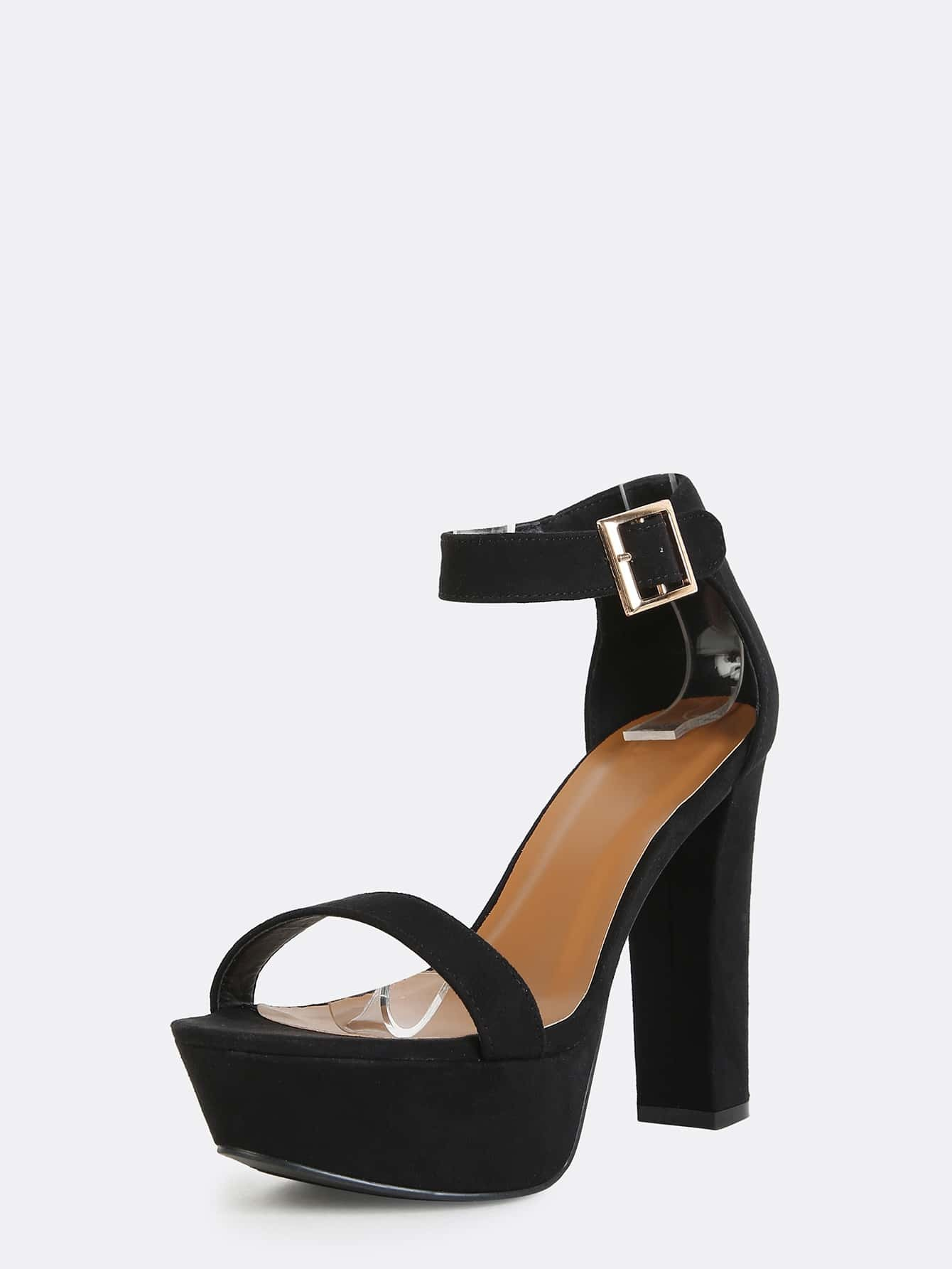 4c892aab1f6 Black Platform Heels With Ankle Strap
