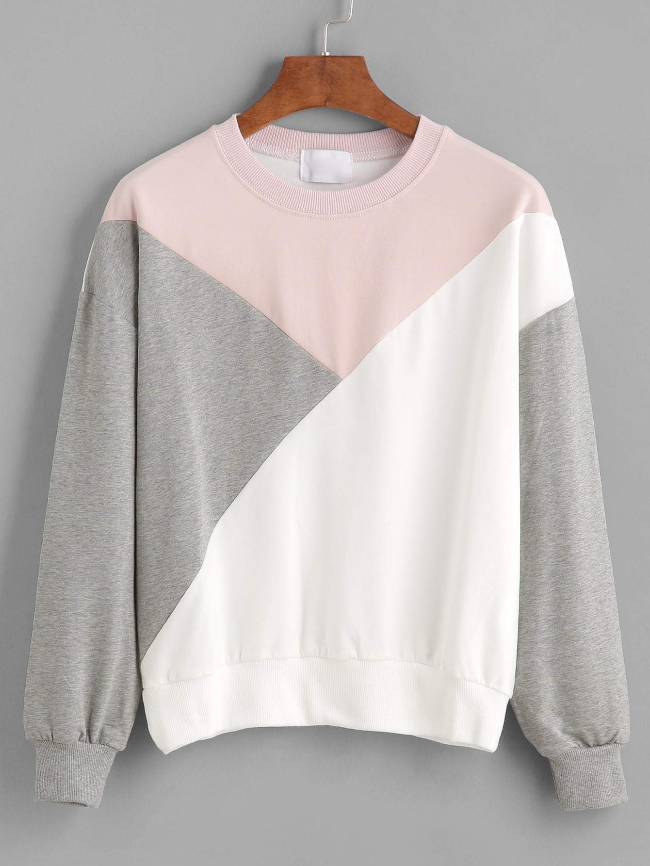 colorful sweatshirt color block drop shoulder sweatshirt shein sheinside 1246