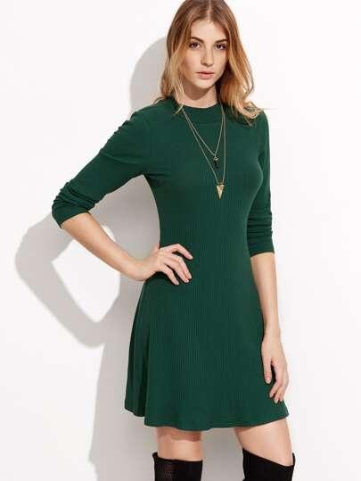 Langarm kleid grun