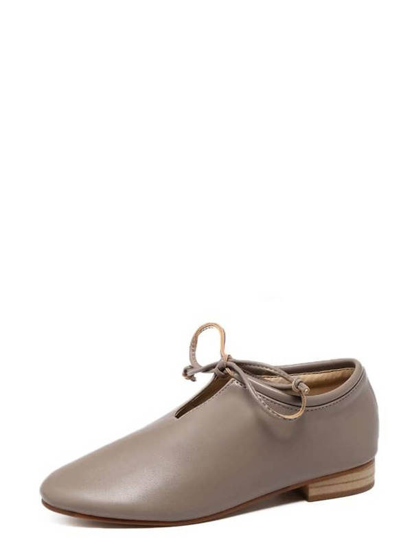 2750afcb46 Camel Faux Leather Top Tied Cork Heeled Shoes | SHEIN IN
