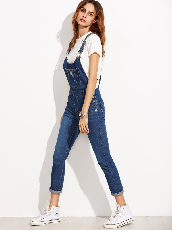0f9056a743f Cheap Ripped Denim Dungarees With Pocket for sale Australia