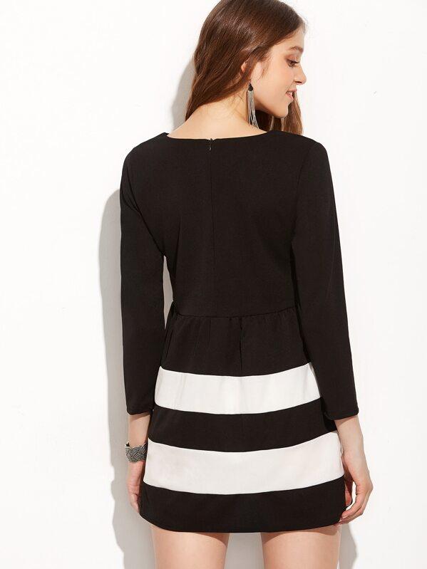 best website 844ae b0f03 A-Linie Kleid Langarm - schwarz und weiß