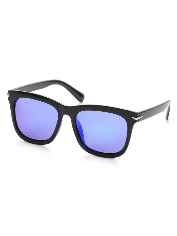ff3c379231 Black Frame Iridescent Lens Sunglasses   SHEIN UK