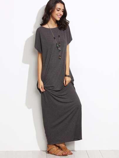 b89be1518f Side Pocket Batwing Cocoon Maxi Dress