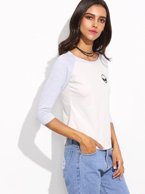 8558bb6f8 Camiseta manga raglán embarazada contraste bordado ET