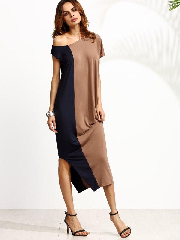 ec633009cf0b4 Cut   Sew One Shoulder Slit Dress