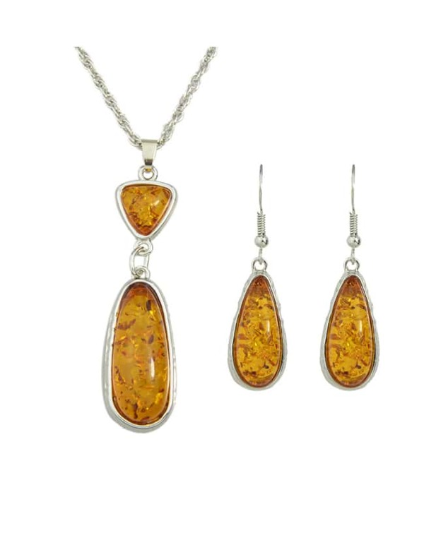 dc55935aee Yellow Amber Jewelry Set | SHEIN UK