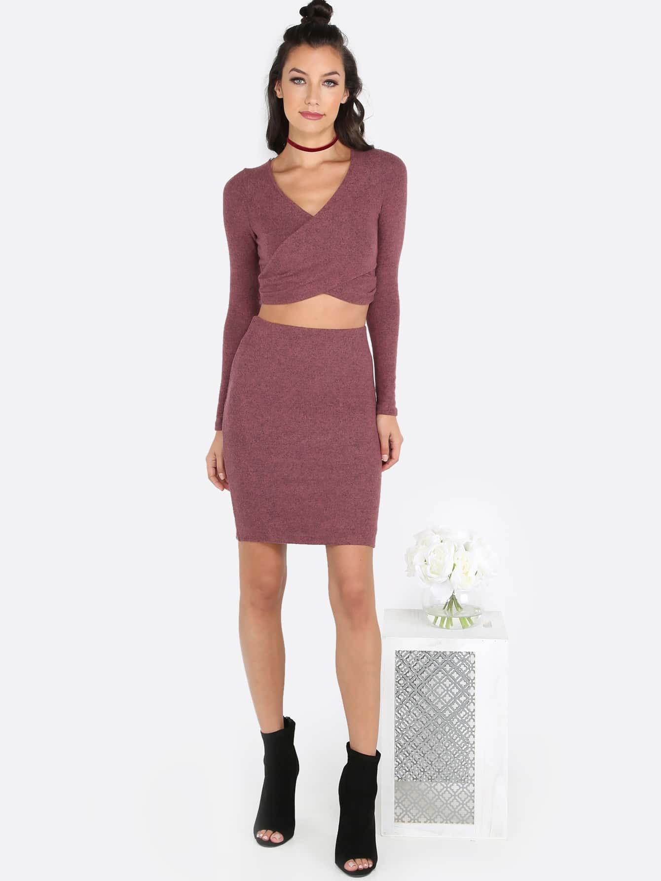 8de1145f2c Crop Top And Midi Skirt Set