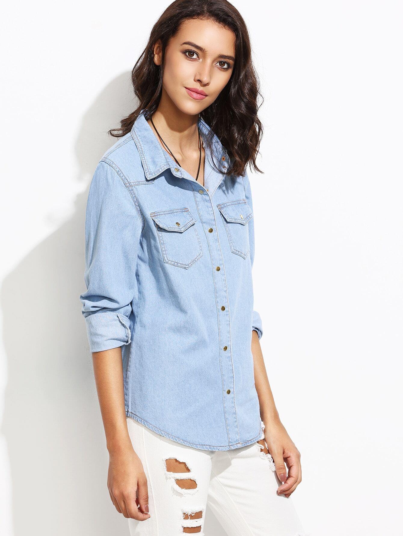 denim shirt pockets - photo #44