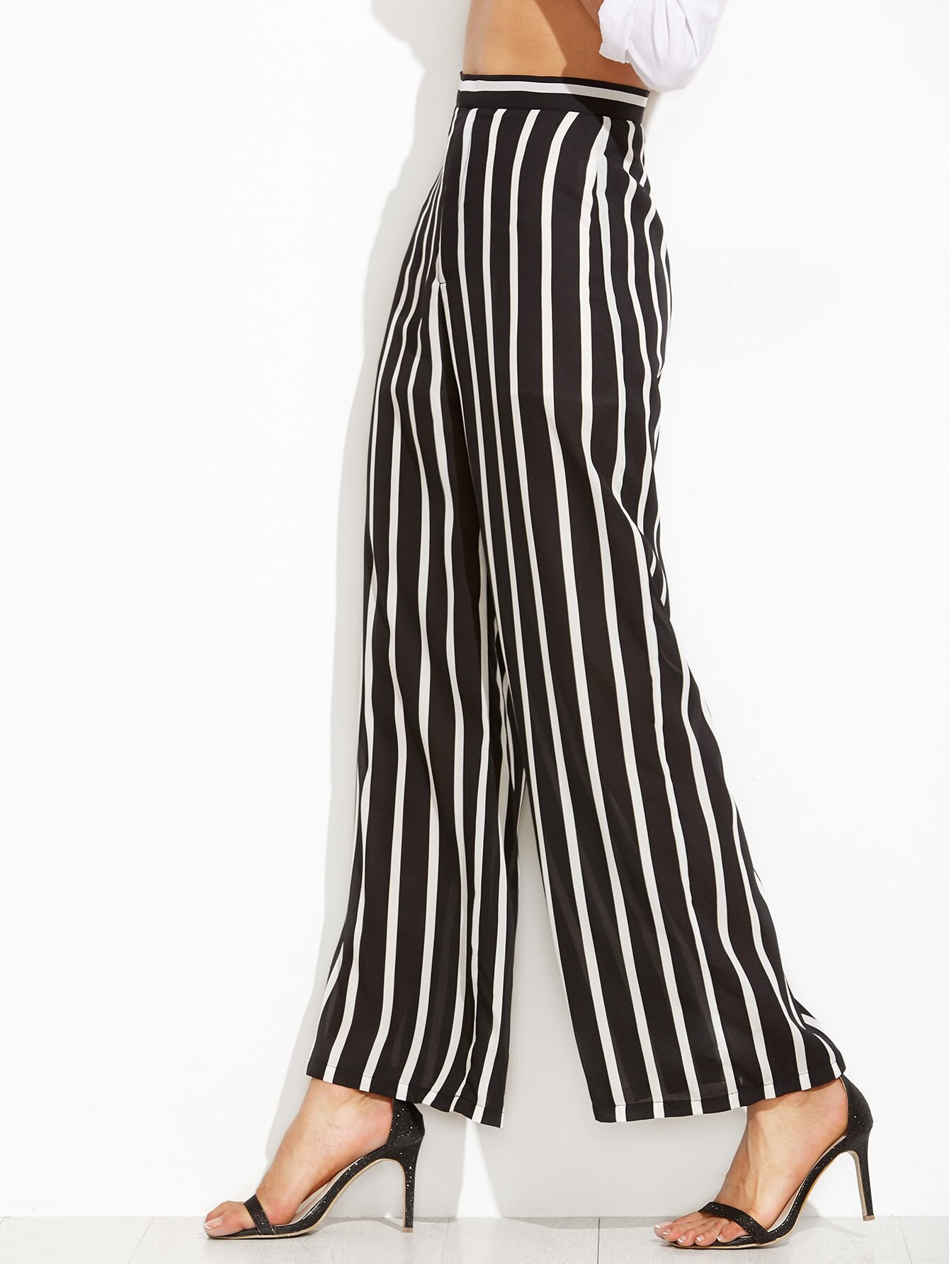 Find black and white stripe wide leg pants at ShopStyle. Shop the latest collection of black and white stripe wide leg pants from the most popular.
