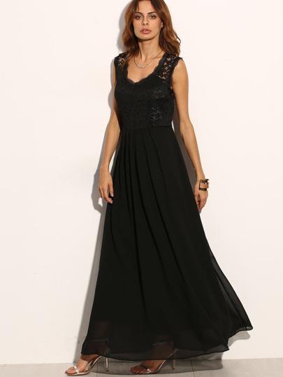 Robe de soiree noire sans manche