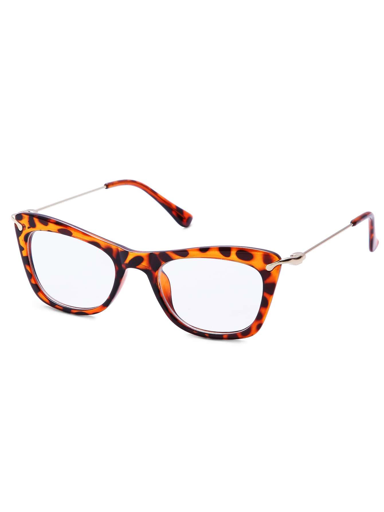 Gafas del sol con montura estampado tortuga - marrón-Spanish SheIn ...