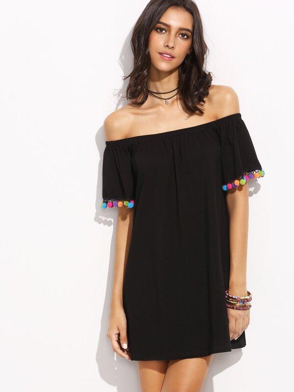 cb2c6132b0e Bardot Pom Pom Trim Dress