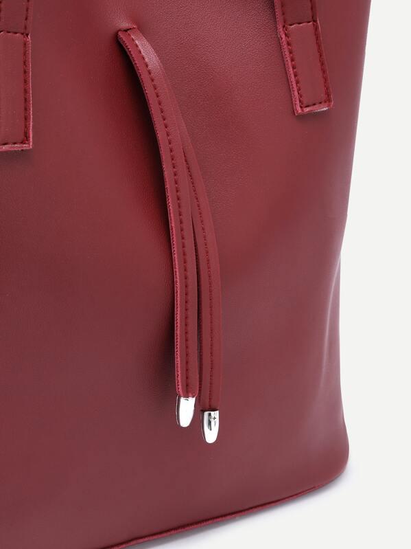 4227dfca49 Burgundy Tote Bag With Crossbody Bag -SheIn(Sheinside)