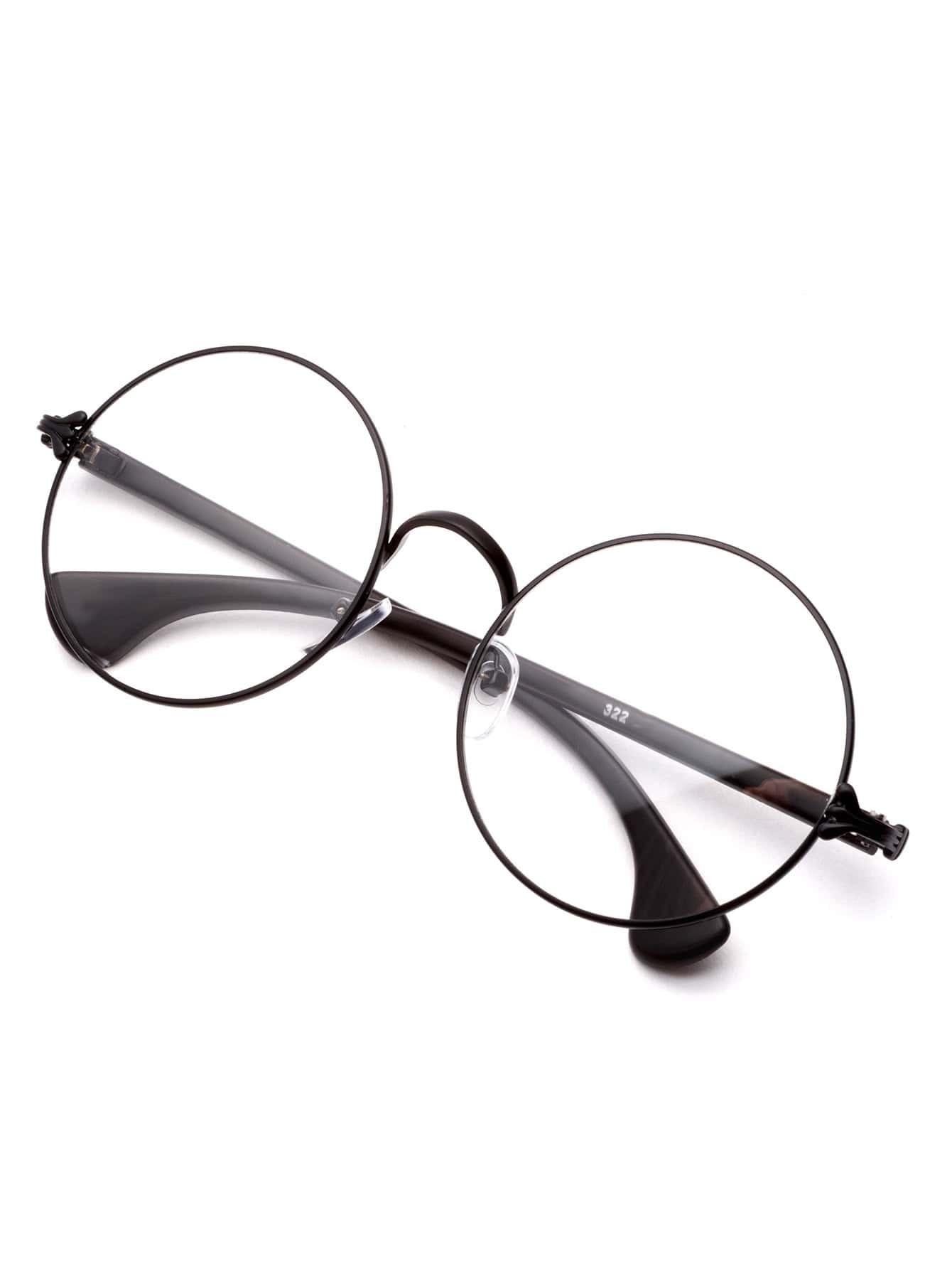 Matte Black Frame Clear Lens Glasses
