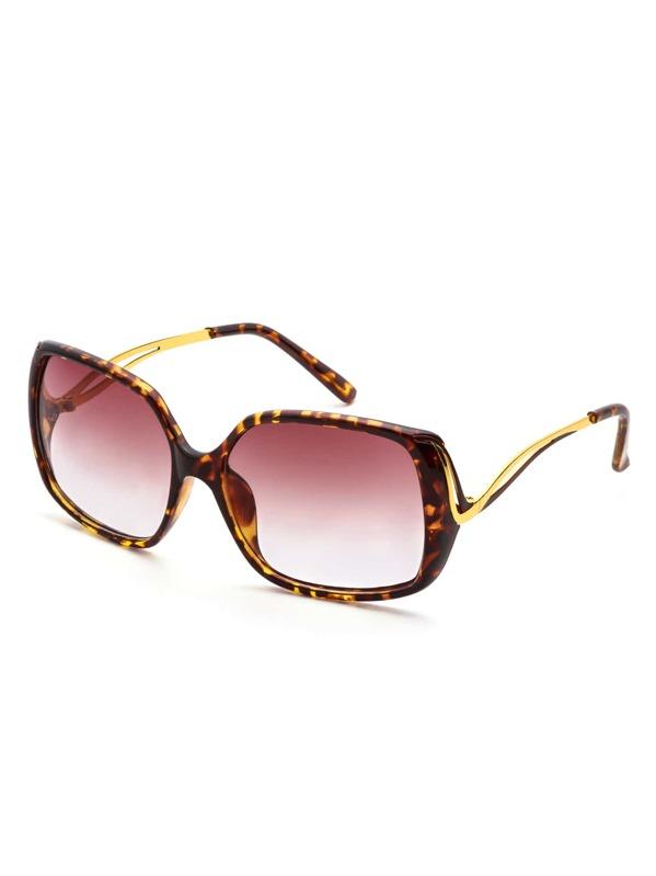 4b1cb3ab77 Gafas de sol marco estampado de leopardo con lentes grande | SHEIN ES
