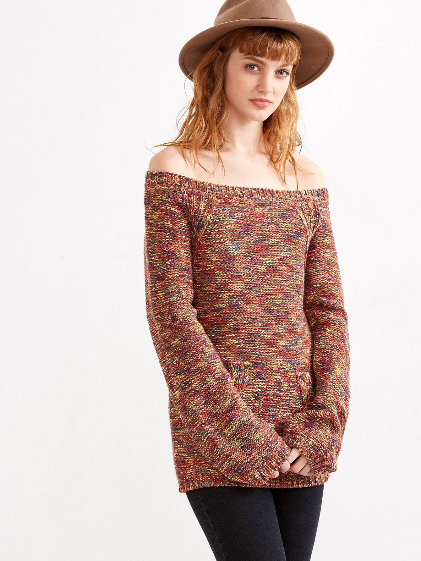 Knitting Increases For Sleeves : Knit off shoulder sweater pattern full zip