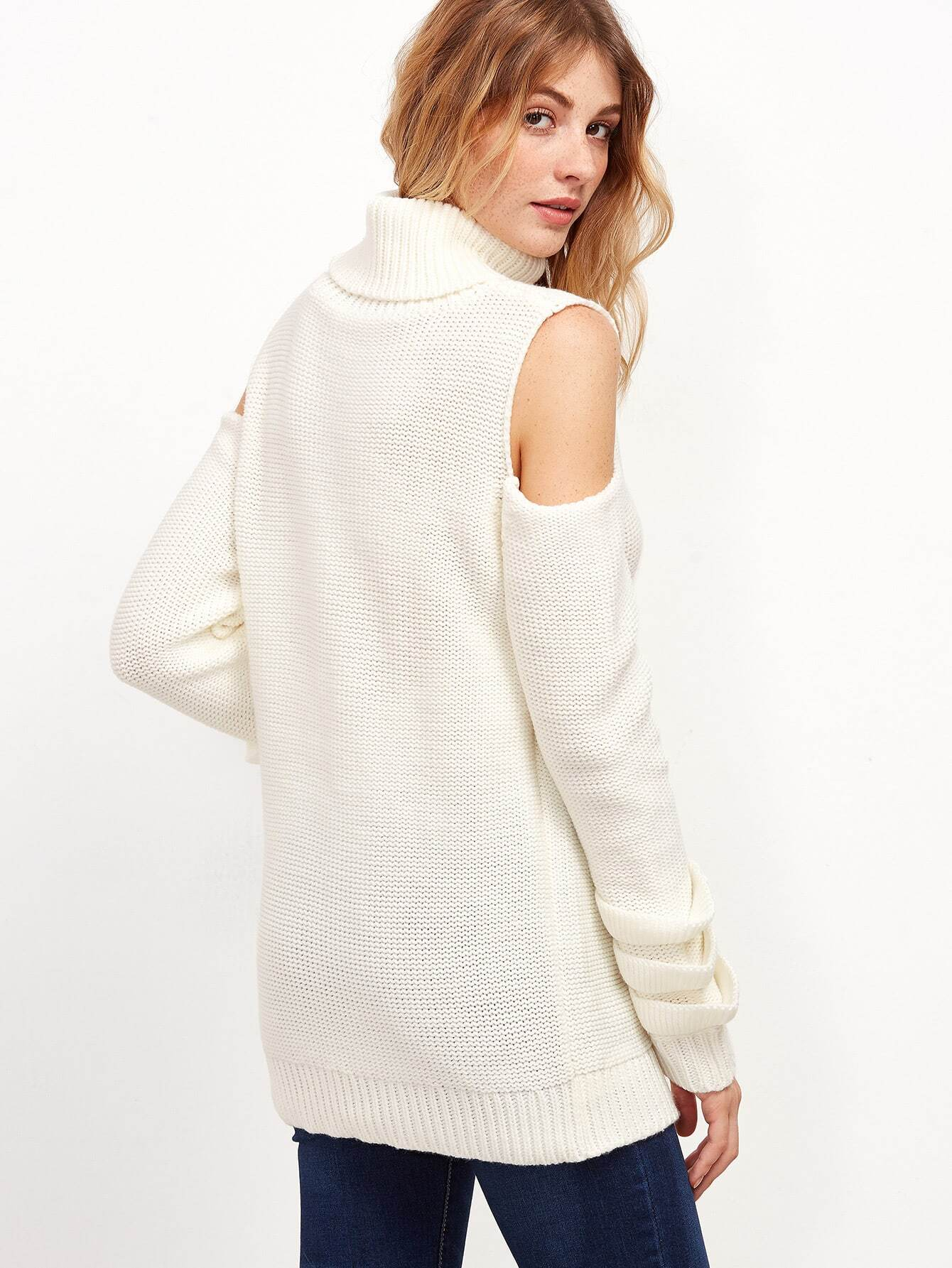 Shopping Open Shoulder Plain Batwing Sleeve Sweaters online with high-quality and best prices Sweaters at Luvyle.