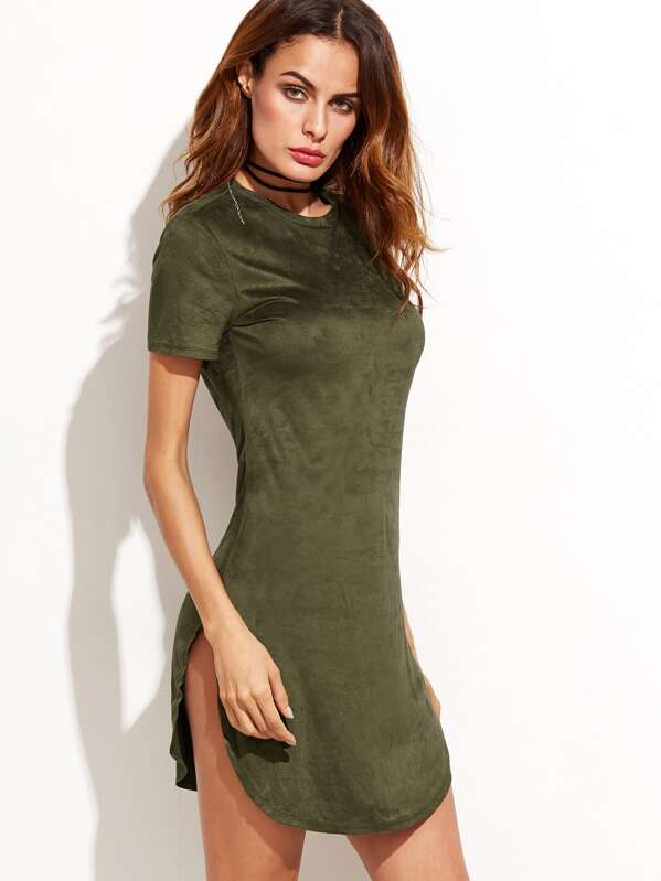 Vestidos verde militar casuales