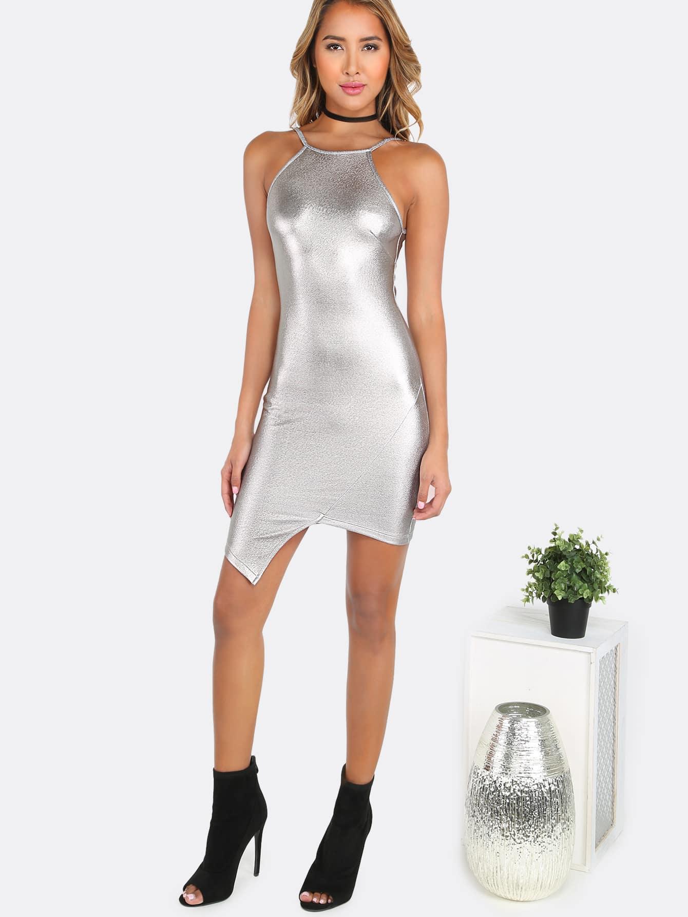 Bodycon dress metallic as seen on tv