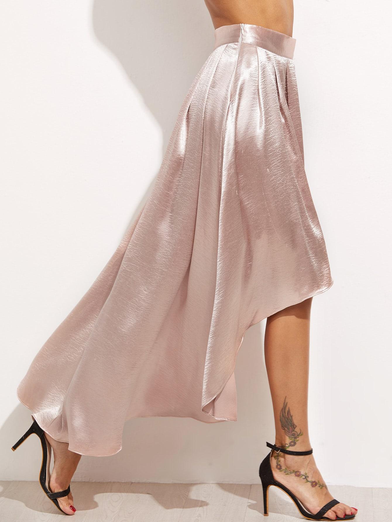 silky rock vorne kurz hinten lang rosa german shein. Black Bedroom Furniture Sets. Home Design Ideas