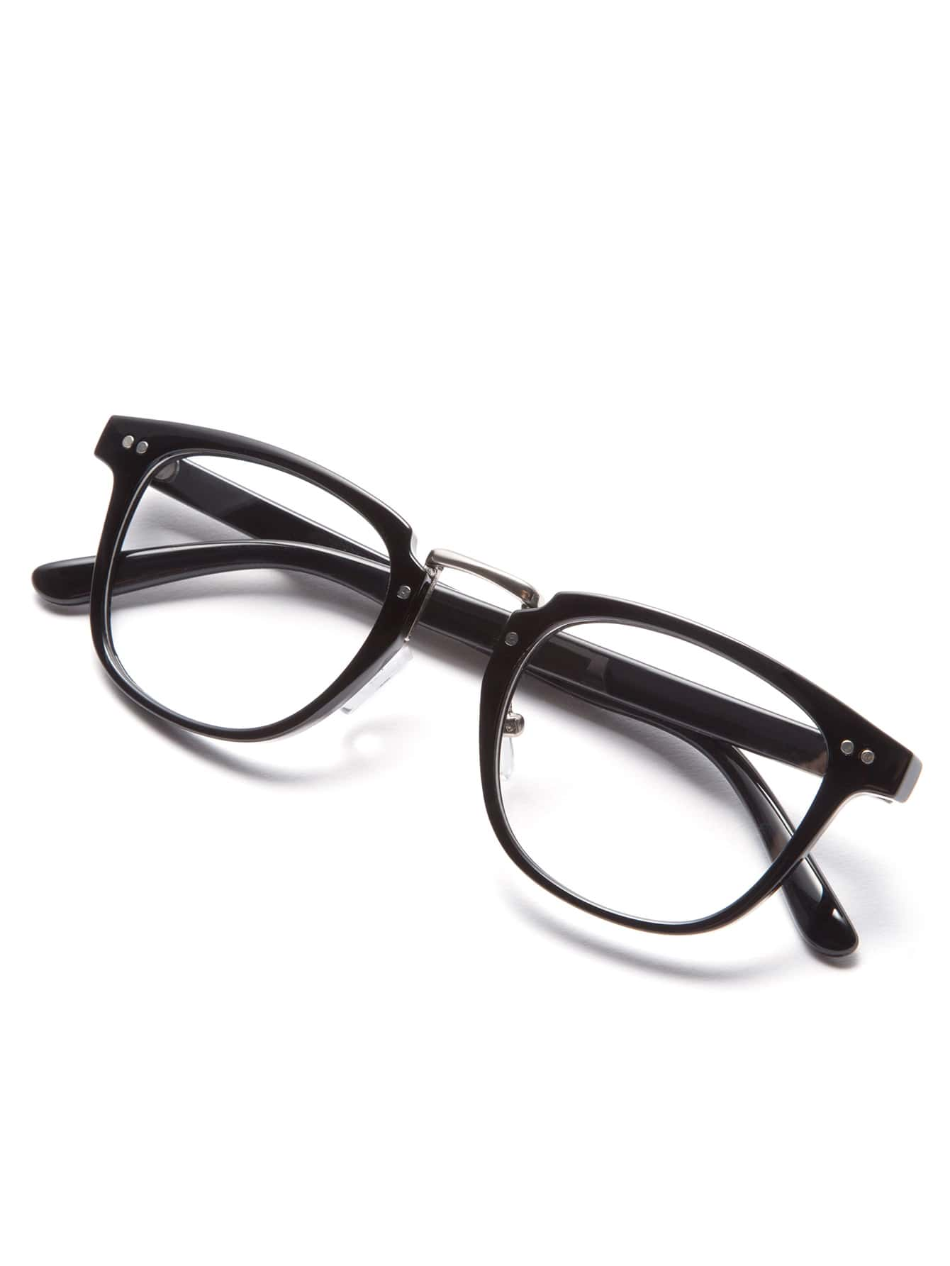 Black Frame Glasses Clear Lens : Black Frame Clear Lens Glasses -SheIn(Sheinside)