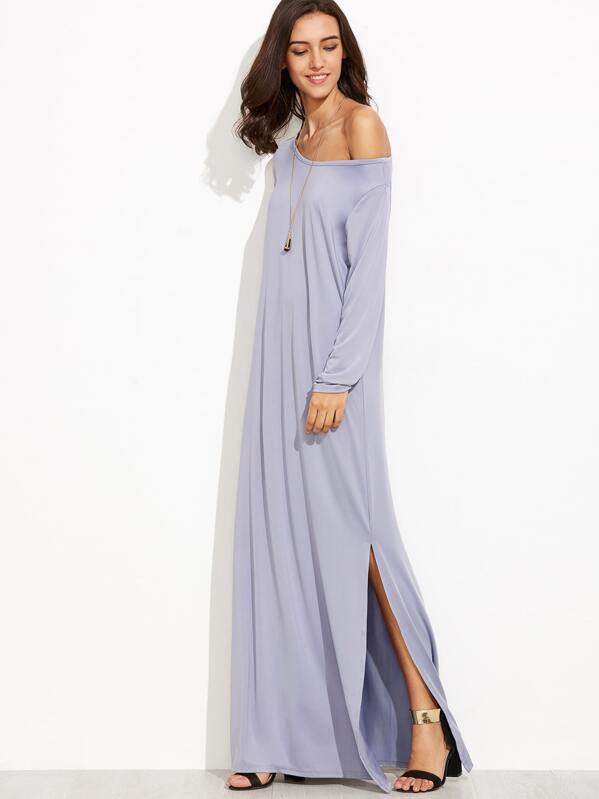 86318aaa6b Cheap Grey One Shoulder Slit Side Maxi Dress for sale Australia | SHEIN