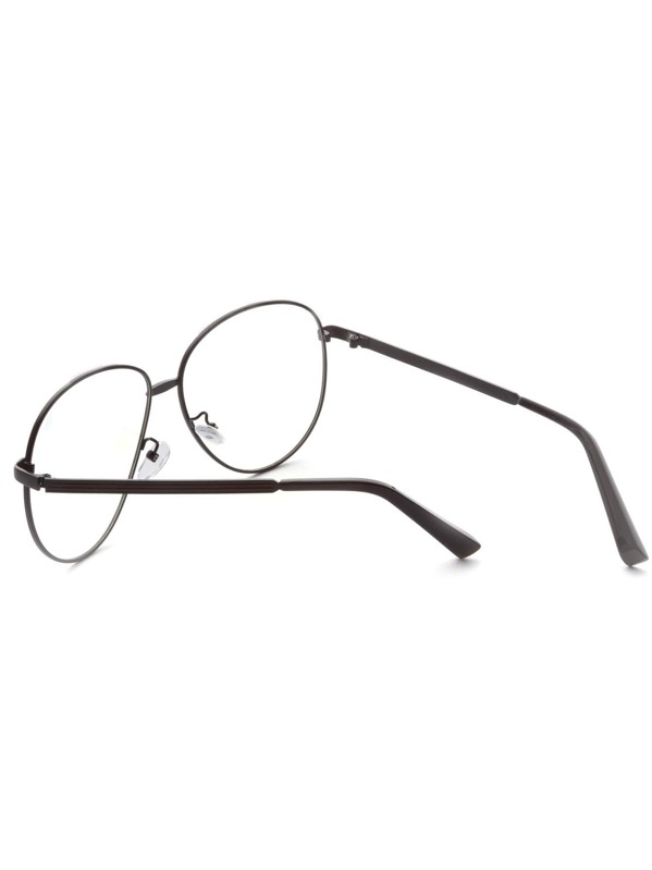 75c9cea200 Gafas vintage con lentes grandes - gris oscuro | SHEIN ES