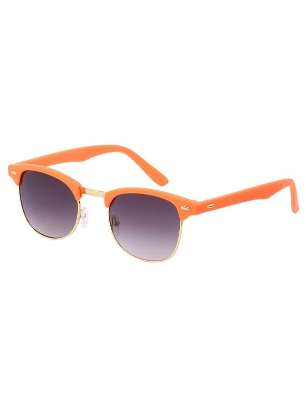 ad62b90942 Gafas de sol marco abierto ribete de metal - naranja | SHEIN ES