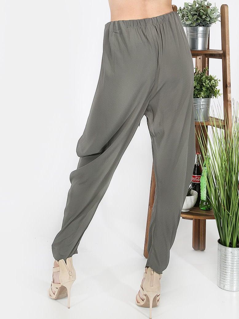 pantalon avec n uds vert french shein sheinside. Black Bedroom Furniture Sets. Home Design Ideas