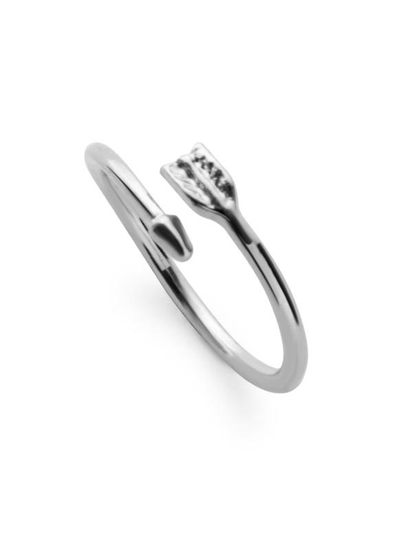 a48babcb0e Silver Plated Arrow Wrap Ring | SHEIN