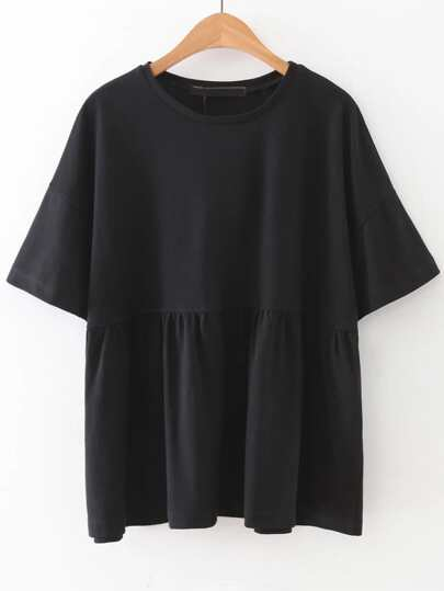 Elbow Sleeve Smock Blouse
