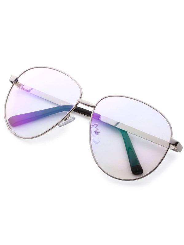 f5208cf10 نظارات كبيرة بإطار فضي | شي إن