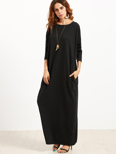 8dac831d80 Scoop Neck Shift Maxi Dress