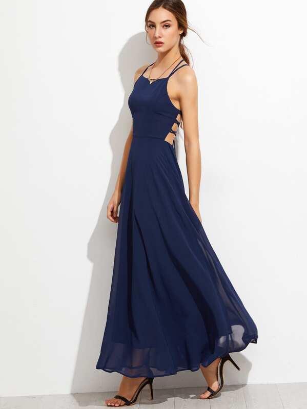 d62d6c3e550 Lace Up Back Cami Dress