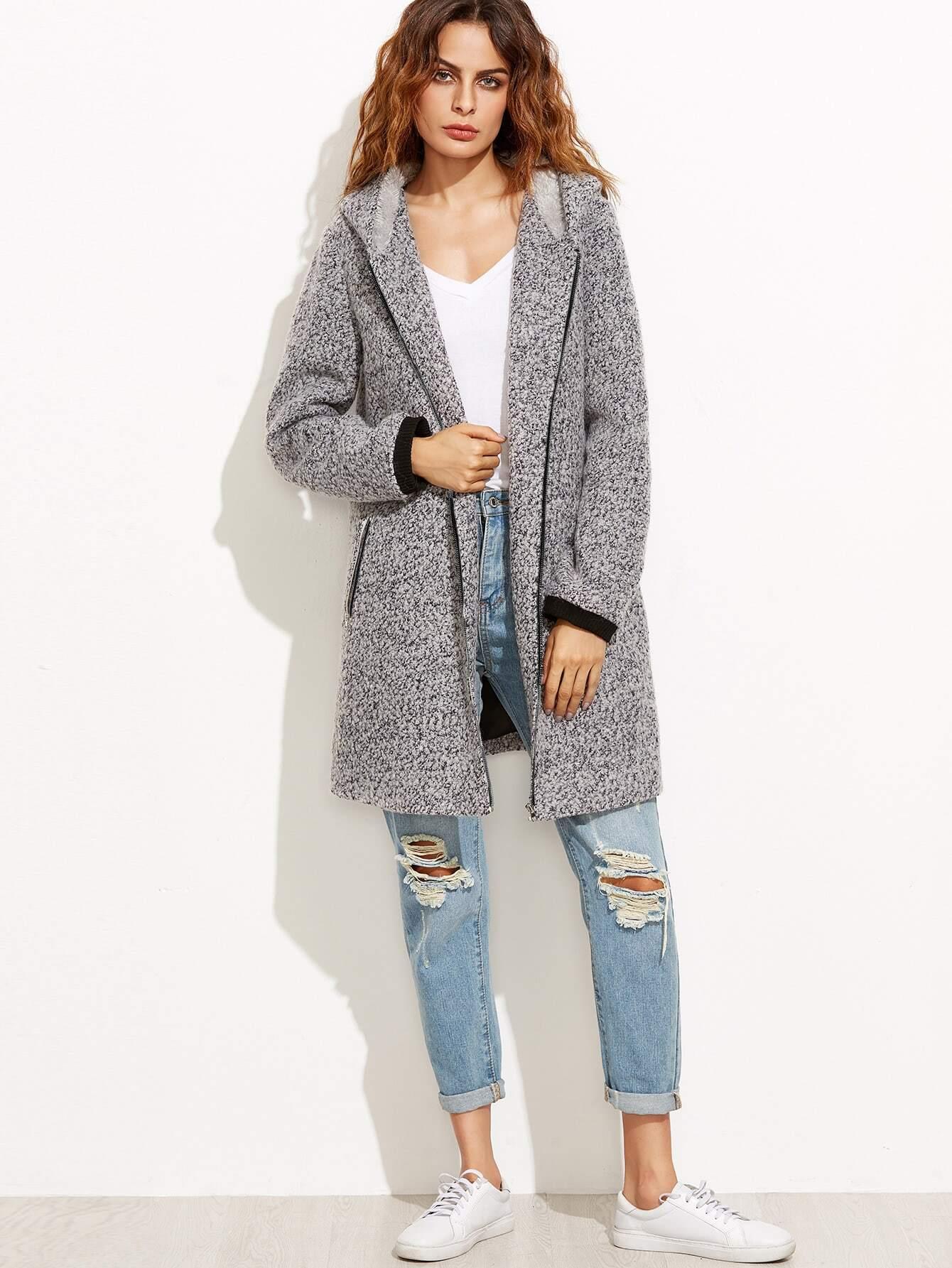 Wool Coat Outerwear Cheap Sale For Women-Us SheIn(Sheinside)