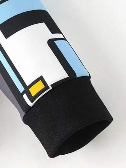 Sweat shirt poignet c tel avec patchworks multicolore for Poignet de porte en anglais