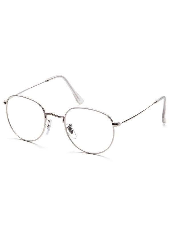 89c5251fde26 Silver Frame Clear Lens Glasses