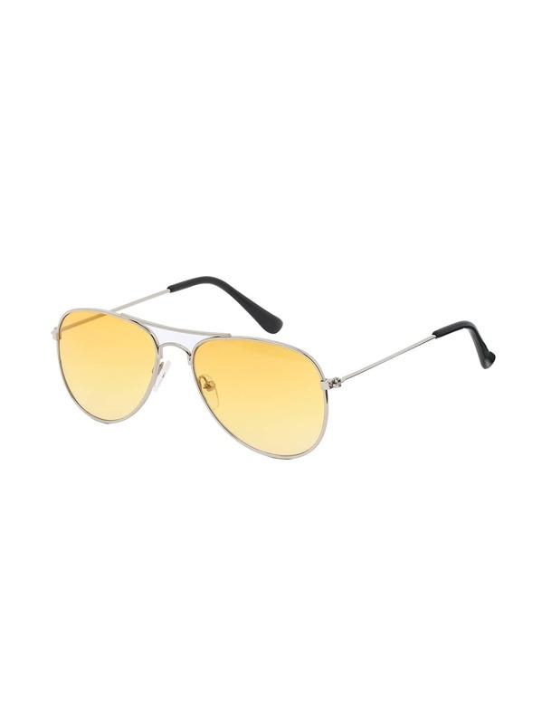 251c9dcfc13e9 Lunettes de soleil aviateur avec verre jaune