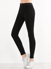 f81156d66679 Black Letter Embroidered Elastic Waist Leggings | SHEIN