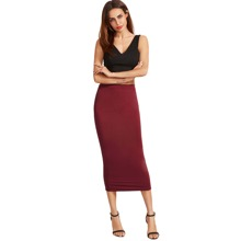- High Waist Sheath Skirt