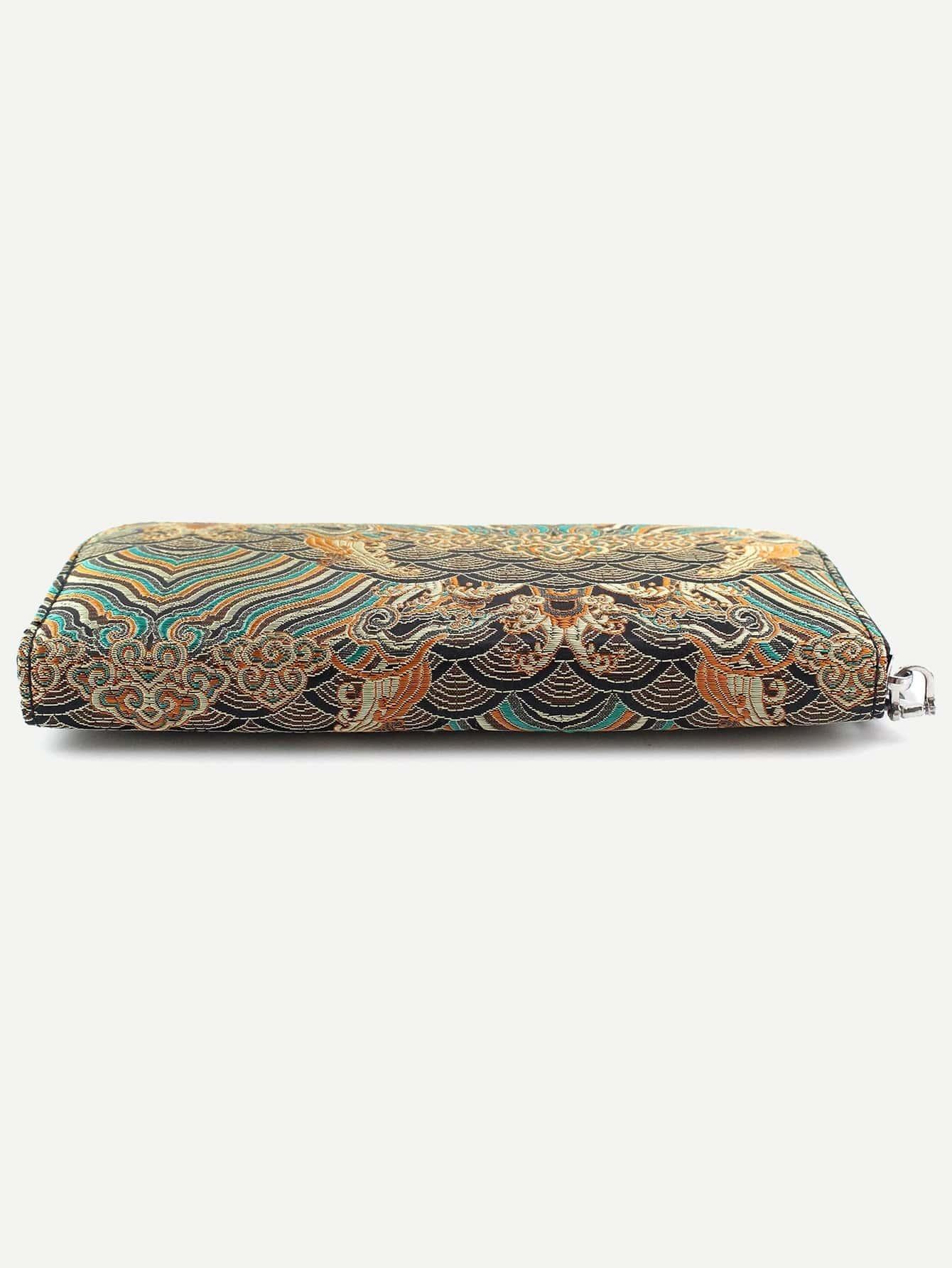 beutel mit rei verschluss tribal sticereien kaffee german shein sheinside. Black Bedroom Furniture Sets. Home Design Ideas